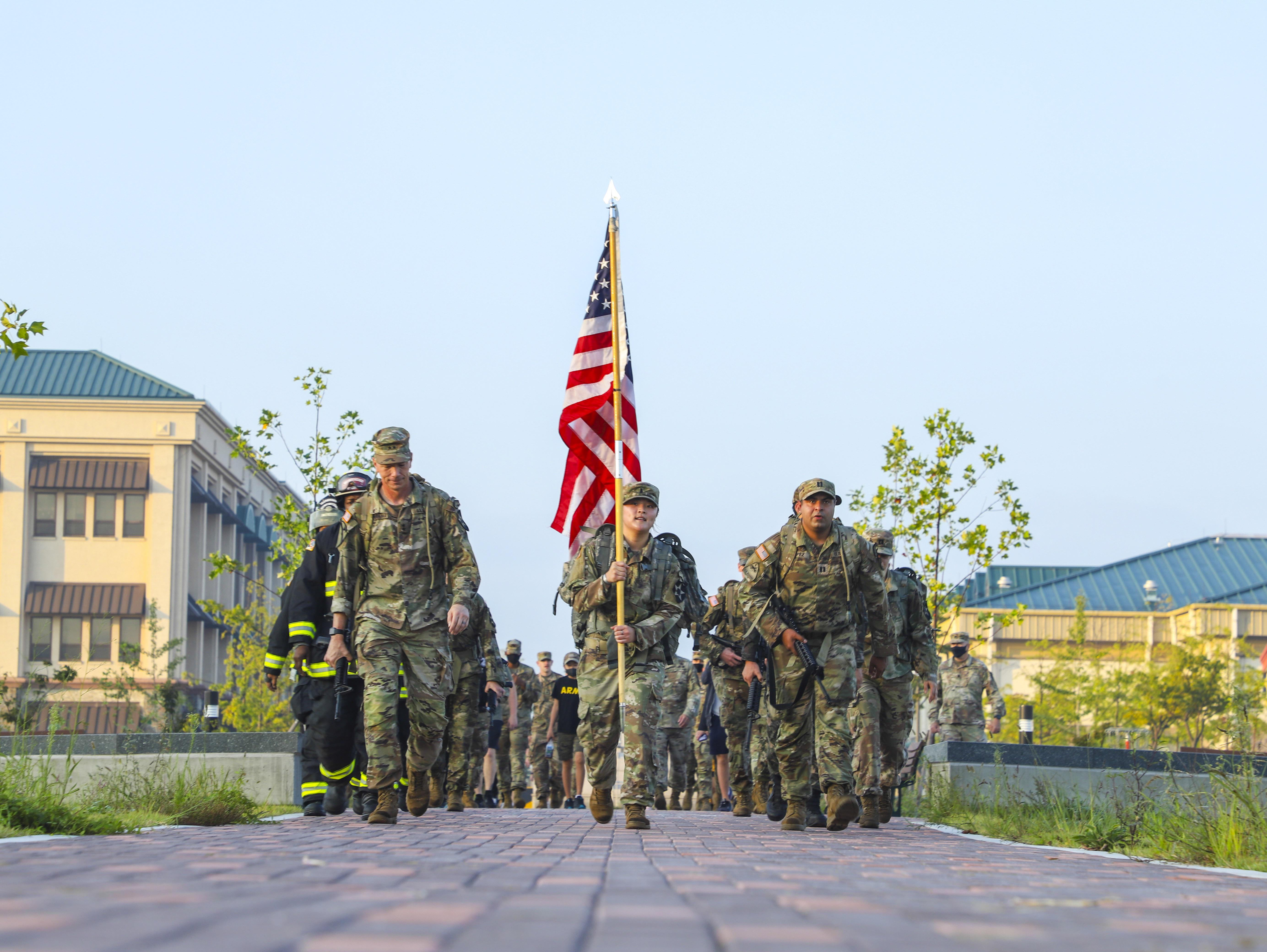 2nd Infantry Division and USAG Camp Humphreys final steps of the 48-hour 9/11 Ruck March