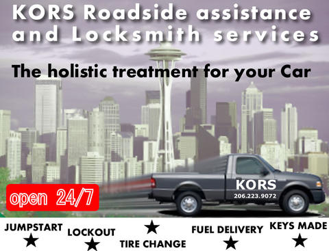 KORS Roadside and locksmith services | 10138 14th Ave S, Seattle, WA, 98168 | +1 (206) 223-9072