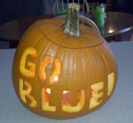 Go Blue Pumpkin