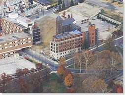 Reading Hospital, Aerial Photo After Demolition